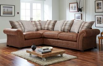 Granby Right Hand Facing 3 Seater Pillow Back Deluxe Corner Sofa Bed Oakland