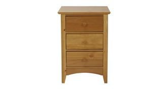 Grayson 3 Drawer Bedside Chest