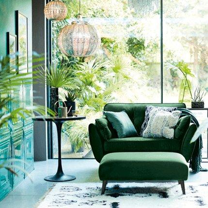 DFS & Green Living Room | DFS
