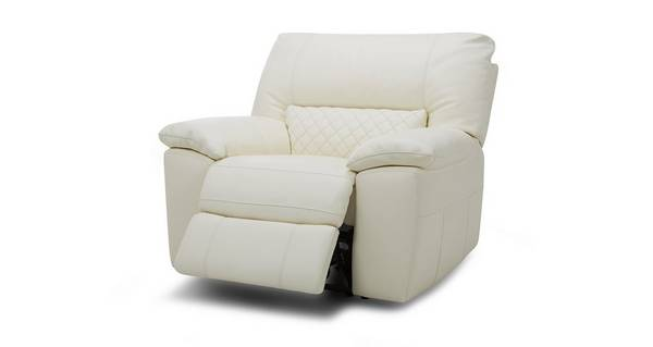 Grid Leather and Leather Look Electric Recliner Chair