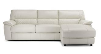 Grid Option A Leather and Leather Look Right Hand Facing Chaise End Sofa