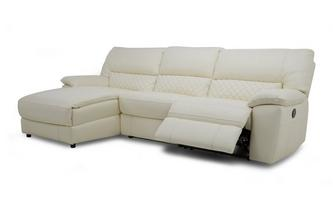 Grid Option E Leather and Leather Look Left Hand Facing Chaise End Manual Recliner Sofa Ultimate
