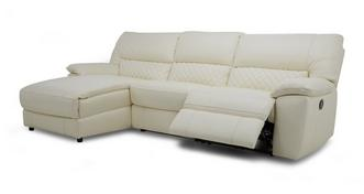 Grid Option E Left Hand Facing Chaise End Manual Recliner Sofa
