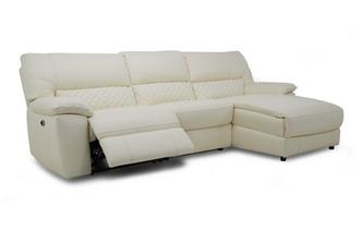 Option C Leather and Leather Look Right Hand Facing Chaise End Electric Recliner Sofa Ultimate