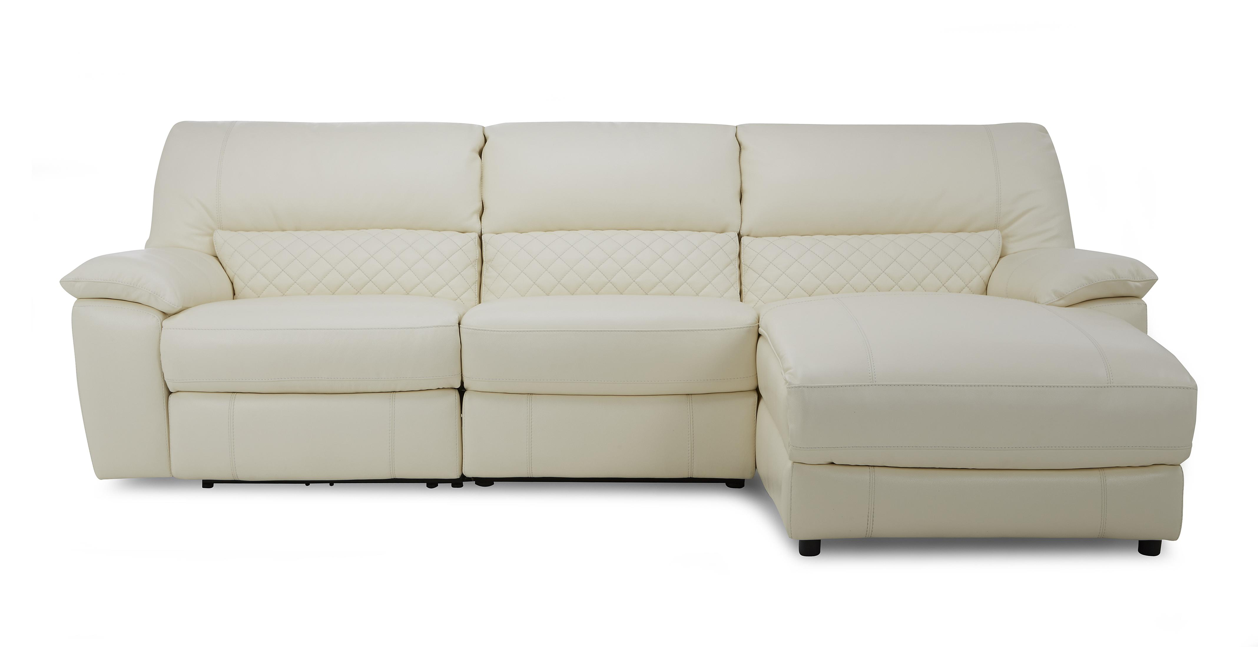 Grid Option C Leather and Leather Look Right Hand Facing Chaise