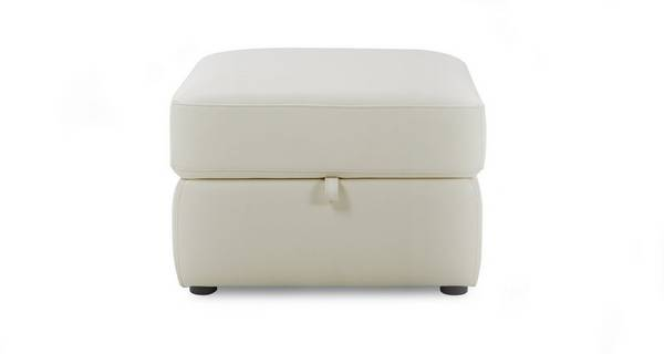 Grid Leather and Leather Look Storage Footstool