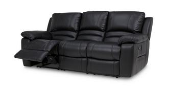 Guild Leather and Leather Look 3 Seater Manual Recliner