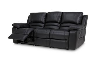 Leather and Leather Look 3 Seater Manual Recliner Premium