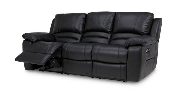 Guild Leather and Leather Look 3 Seater Electric Recliner