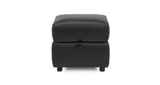 Guild Leather and Leather Look Storage Footstool