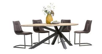 Habana Teardrop Shaped Table & Set of 4 Chairs