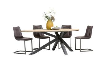 Teardrop Shaped Table & Set of 4 Chairs