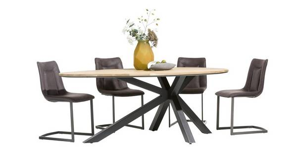Habana Teardrop Shaped Table & Set of 4 Chairs
