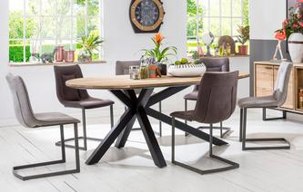 Habana Teardrop Shaped Table & Set of 4 Chairs Habana