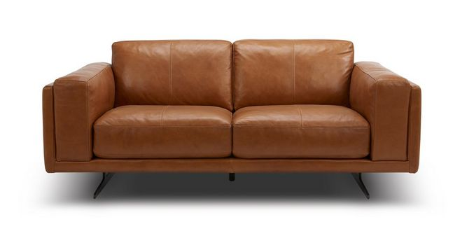 Contemporary Hackney 2 Seater Sofa Choice of Colours  Leather Simple Elegant - Popular 100 Leather sofa Awesome
