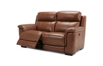 Hadley 2 Seater Manual Recliner Brazil with Leather Look Fabric