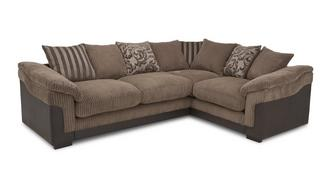 Hallow Left Hand Facing 2 Seater Pillow Back Corner Sofa