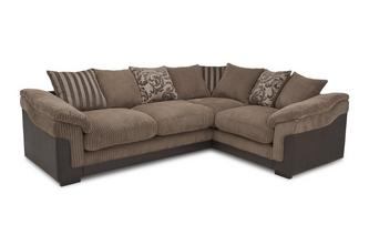 Left Hand Facing 2 Seater Pillow Back Corner Sofa Eternal