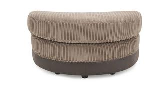 Hallow Half Moon Footstool