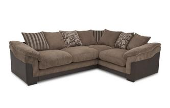 Left Hand Facing 2 Seater Pillow Back Corner Deluxe Sofa Bed Eternal