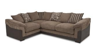 Hallow Right Hand Facing 2 Seater  Pillow Back Corner Deluxe Sofa Bed