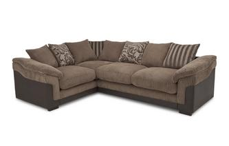 Right Hand Facing 2 Seater  Pillow Back Corner Deluxe Sofa Bed