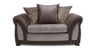 Halton Pillow Back Cuddler Sofa