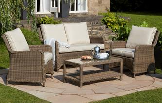 Hampstead High Back Sofa Set Winchester Weave