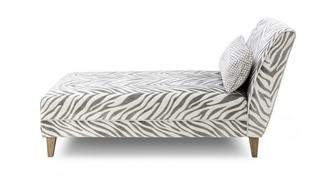 Hampton Tiger Pattern Chaise Longue