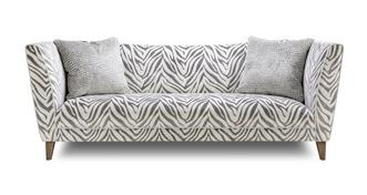 Hampton Tiger Pattern 4 Seater Sofa