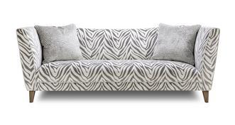 Hampton Tiger Pattern 4 Seater Sofa