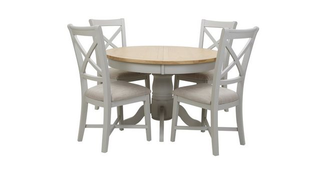 Extending Table Set Of 4 Dining Chairs 36 0