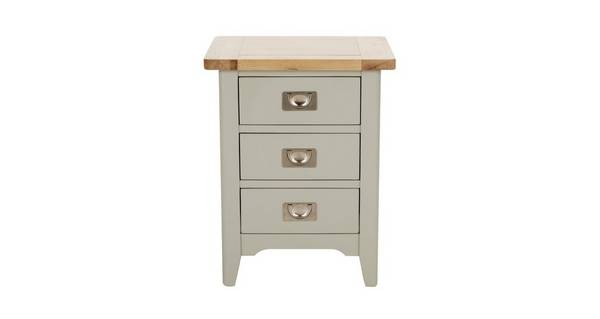 Harbour Bedroom 3 Drawer Bedside Cabinet