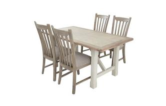 Fixed Top Dining Table & Set of 4 Dining Chairs
