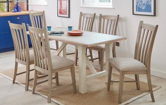 Hardwick Fixed Top Dining Table & Set of 4 Dining Chairs Hardwick