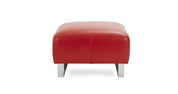 Hardy Leather Footstool