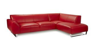 Hardy Leather Left Hand Facing Arm Corner Sofa