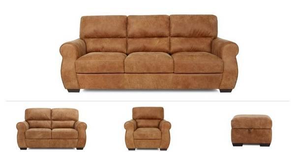 Harlington Clearance 3 Seater Sofa, 2 Seater, Armchair & footstool
