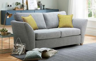 Harlow Large 2 Seater Formal Back Sofa Bed Harlow