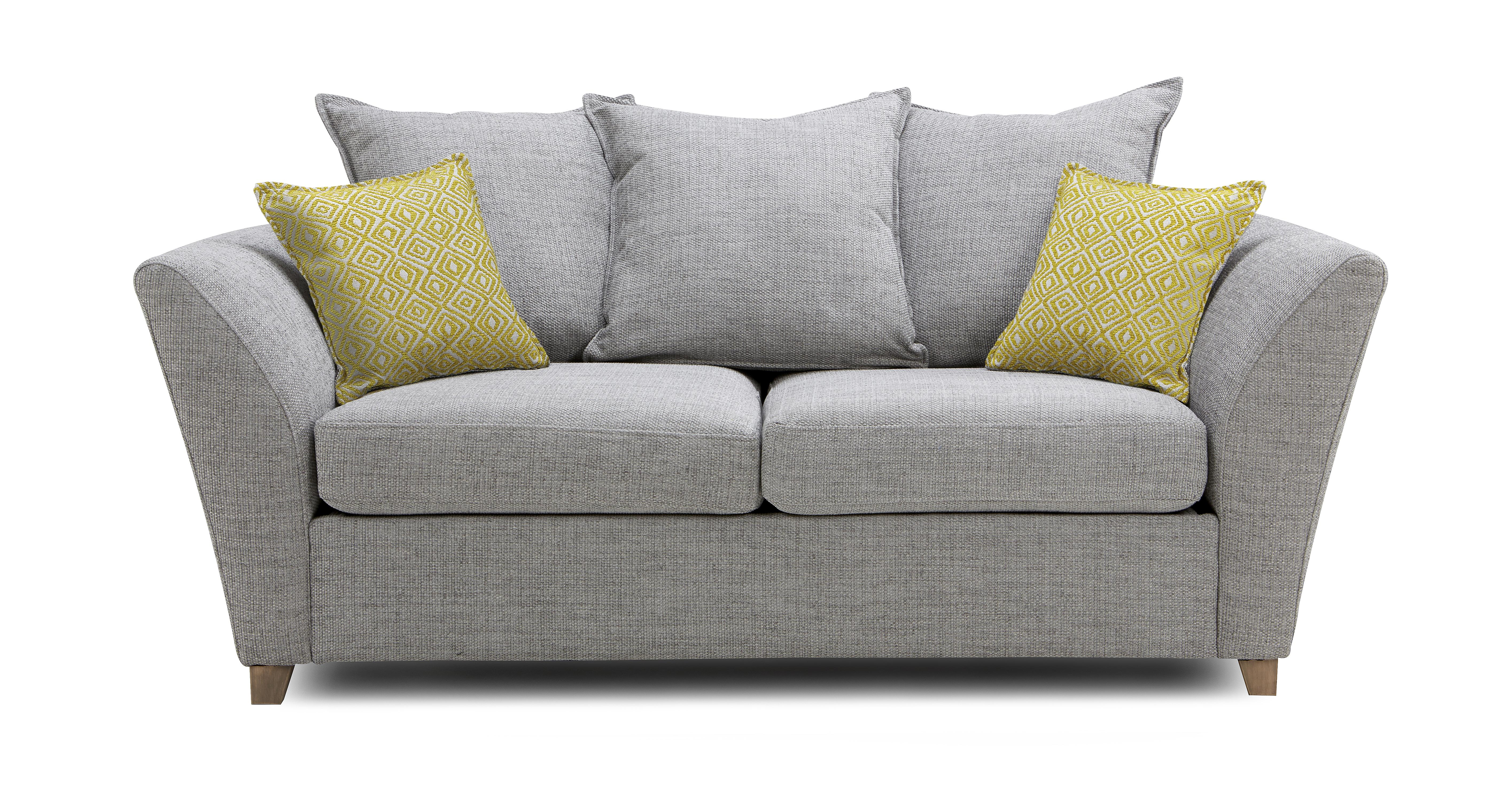 Harlow large 2 seater pillow back deluxe sofa bed dfs for Beds harlow