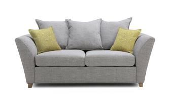 Large 2 Seater Pillow Back Deluxe Sofa Bed Harlow