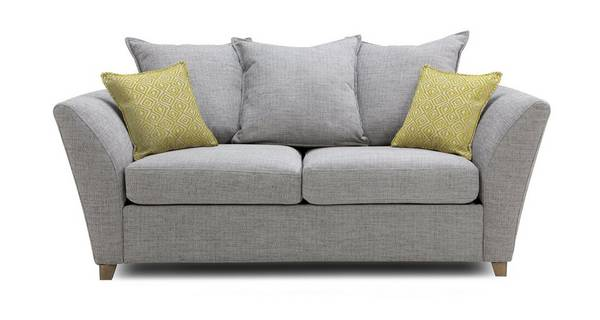 Harlow Large 2 Seater Pillow Back Deluxe Sofa Bed