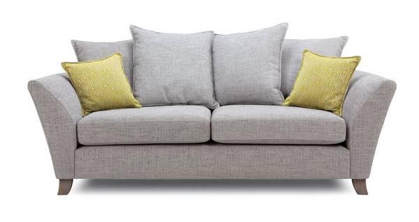 Harlow 3 Seater Pillow Back Sofa