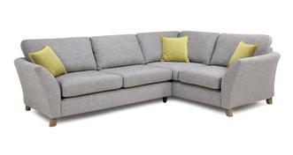 Harlow Left Hand Facing 3 Seater Formal Back Corner Sofa