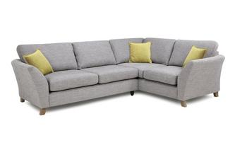 Left Hand Facing 3 Seater Formal Back Corner Sofa Harlow