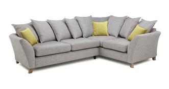 Harlow Left Hand Facing 3 Seater Pillow Back Corner Sofa