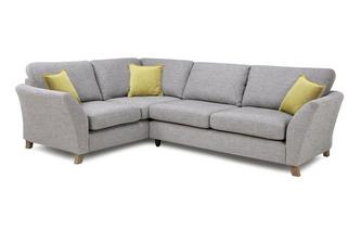 Right Hand Facing 3 Seater Formal Back Corner Sofa Harlow