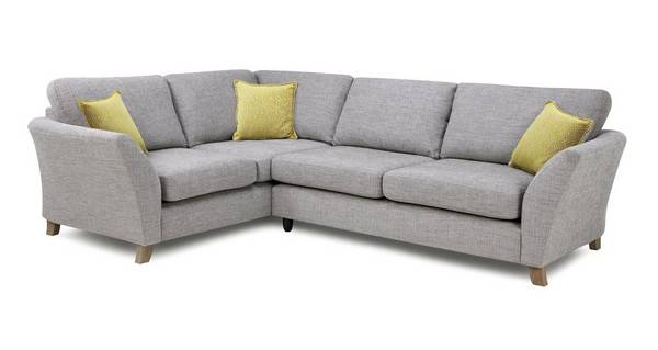 Harlow Right Hand Facing 3 Seater Formal Back Corner Sofa