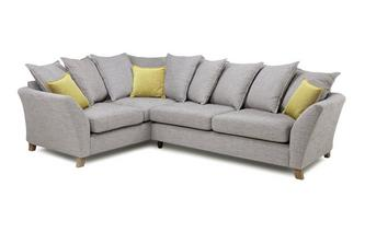 Right Hand Facing 3 Seater Pillow Back Corner Sofa Harlow