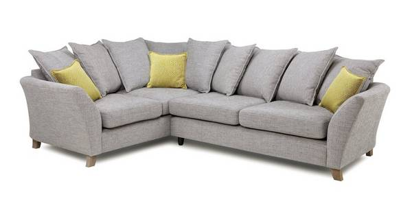 Harlow Right Hand Facing 3 Seater Pillow Back Corner Sofa
